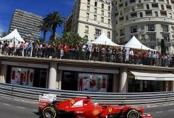 GP Mónaco 2012, Libres 1: Alonso el más rápido pero antes de tiempo