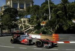 GP Mónaco 2012, Libres 2: Lluvia en las calles de Mónaco. Button el más rápido