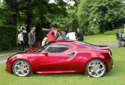 El Alfa 4C Concept reaparece en el Concorso d Elegance Villa d Este