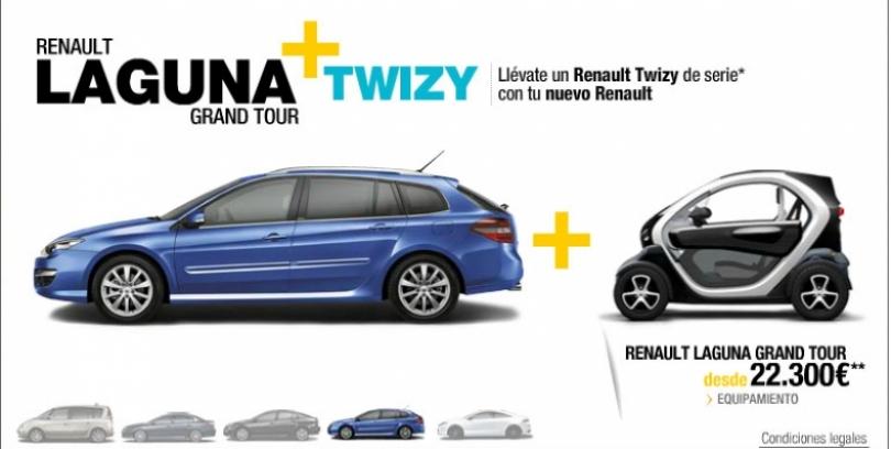 2x1 Renault: Compra un Espace, Latitude o Laguna y llévate un Twizy de regalo
