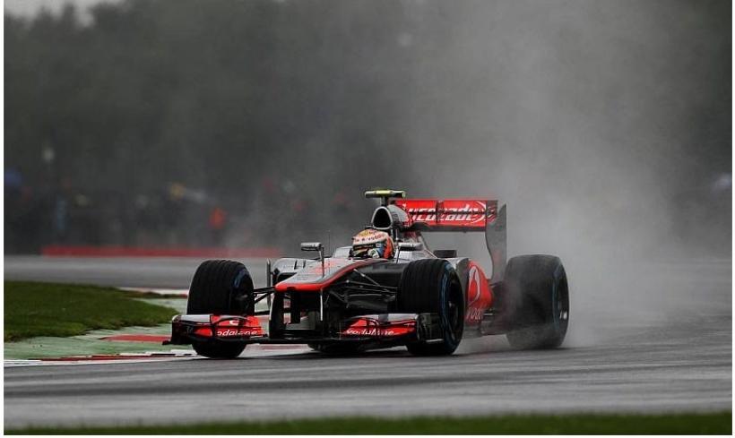 GP Gran Bretaña 2012, Libres 2: Hamilton por delante de Kobayashi