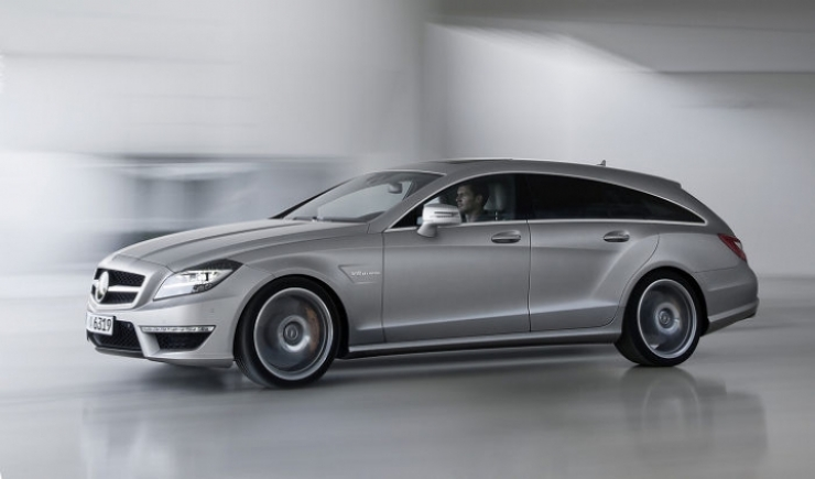 Mercedes CLS 63 AMG Shooting Brake en acción en video promocional