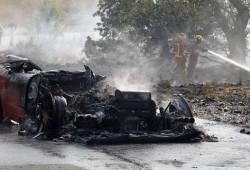 Se incendia el Ferrari 360 Modena del jugador argentino Ever Banega