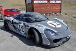 Porsche 918 Spyder Hybrid pillado en pruebas