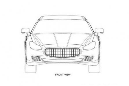 Se filtran lo que parecen ser los gráficos de diseño del nuevo Maserati Quattroporte