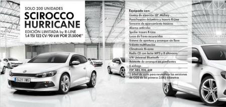 Volkswagen lanza el Scirocco Hurricane: Una edición muy equilibrada