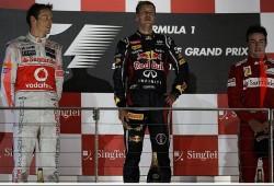 Vettel gana por delante de Button y de Alonso
