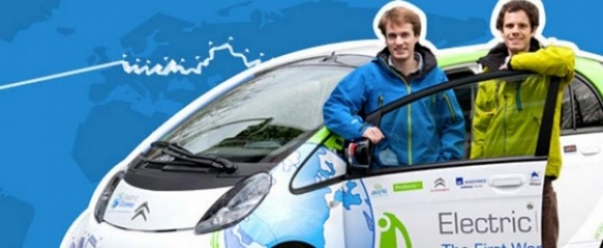 Un coche eléctrico da la vuelta al mundo
