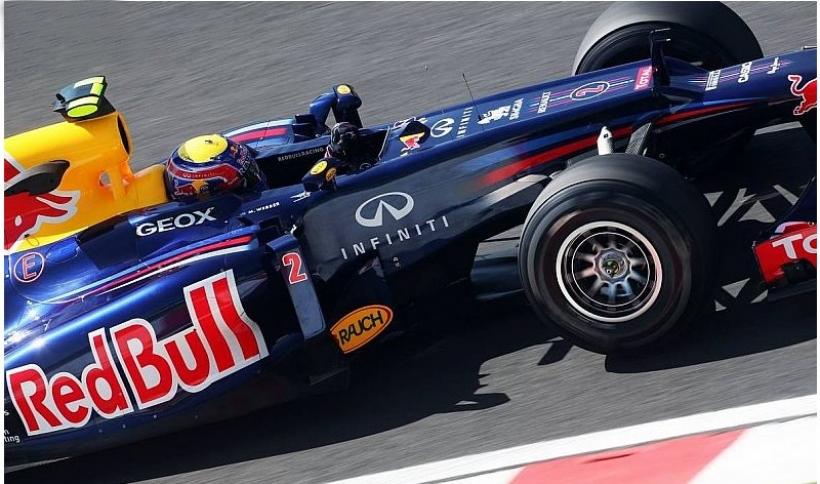 Mark Webber logra el tiempo más rápido de la jornada