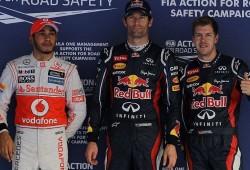 Mark Webber logra la pole por delante de Vettel