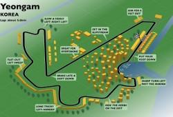 Agenda de eventos y datos del circuito (Yeongam)