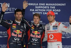 Red Bull logra la primera fila con Vettel y Webber
