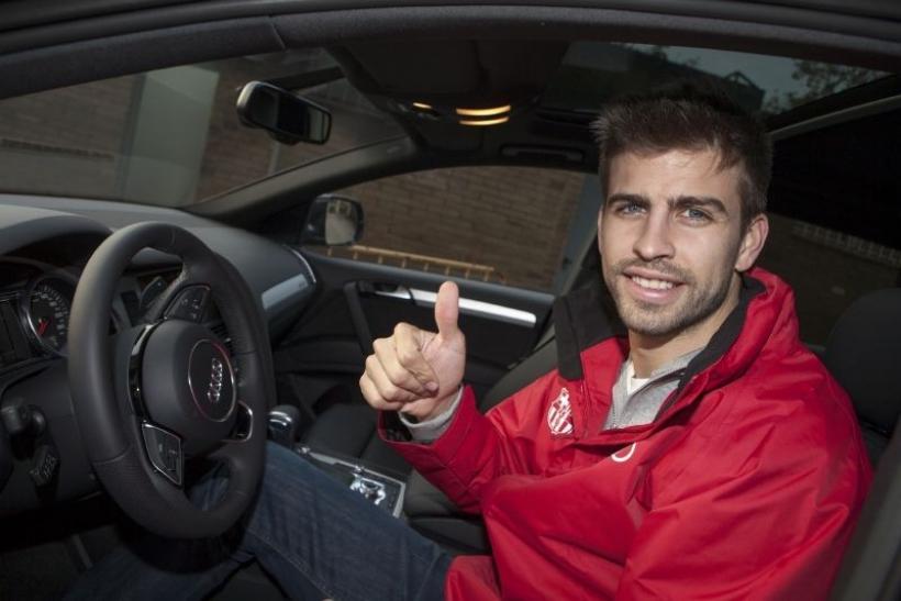 El nuevo coche de Messi y los Audi del FC Barcelona