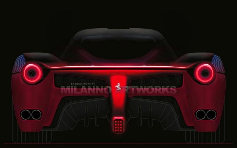 Así sería la trasera del Ferrari F70