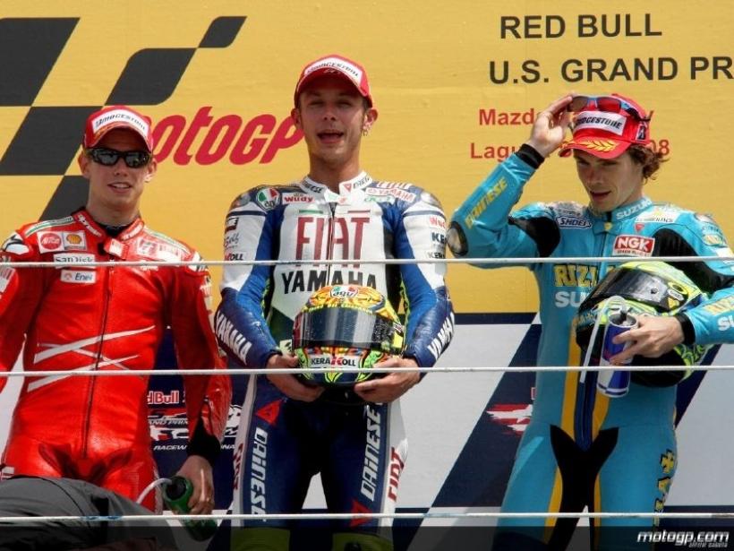 Valentino Rossi y Casey Stoner, enemigos para siempre
