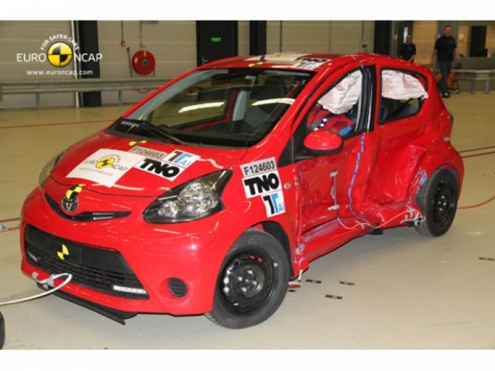 El Toyota Aygo y sus gemelos alcanzan tres estrellas EuroNCAP