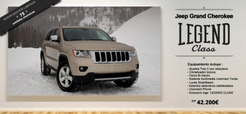 """Jeep Grand Cherokee """"Legend Class"""", sólo para 75 afortunados"""