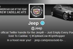 El perfil de Jeep en Twitter, hackeado