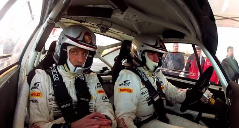 Carlos Sainz y Luis Moya con Porsche 911 en el Rally de España Histórico 2013