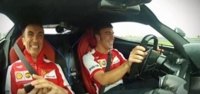Video: Fernando Alonso prueba el LaFerrari en Fiorano