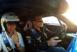 Kimi Raikkonen prueba el Alpine A110-50