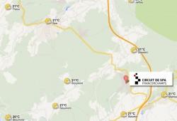 Previsión Meteorológica en Spa-Francorchamps