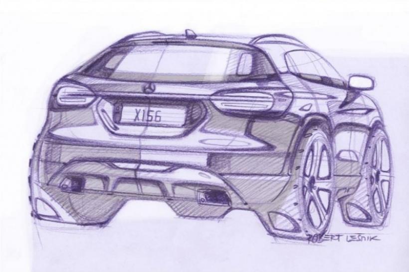 Mercedes-Benz GLA: bocetos que muestran su diseño final