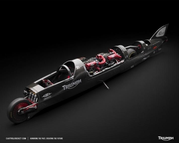 Castrol y Triumph buscan el récord de velocidad en moto