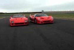 Ferrari F40 y Ferrari F50, duelo cara a cara en circuito