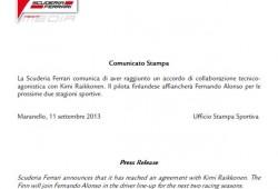 Ferrari hace oficial la vuelta de Kimi Raikkonen a la Scuderia