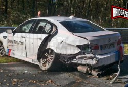 Ni el BMW M5 Ring Taxi se salva de tener accidentes en Nürburgring