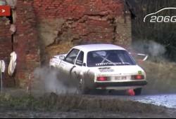 Derribando una pared con un Opel Ascona