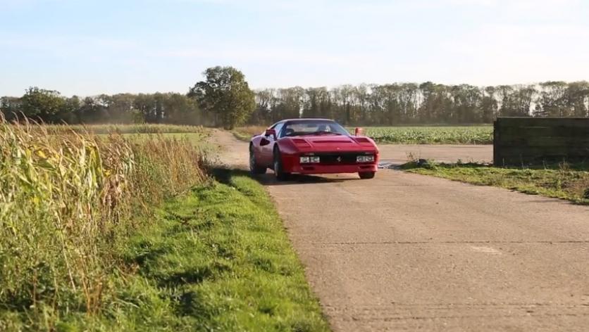 De Gymkhana por el campo con un Ferrari 288 GTO