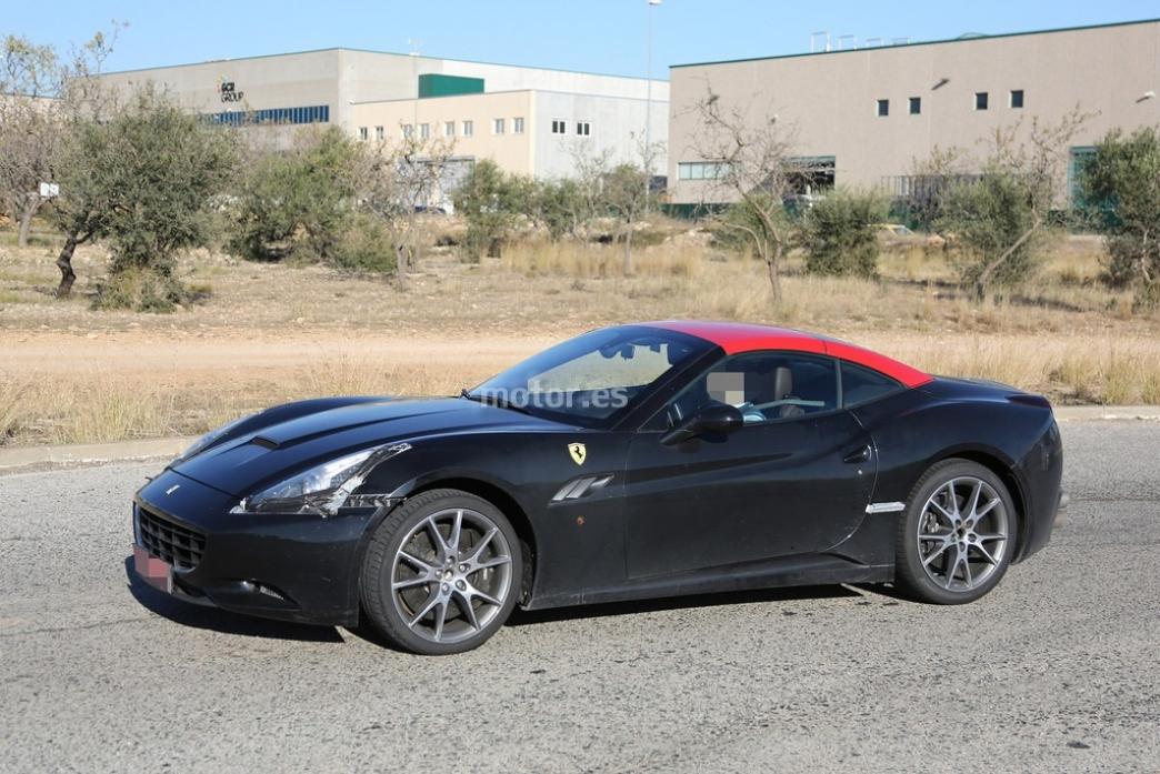 Ferrari California 2015, fotos espía de las pruebas de chasis y motor