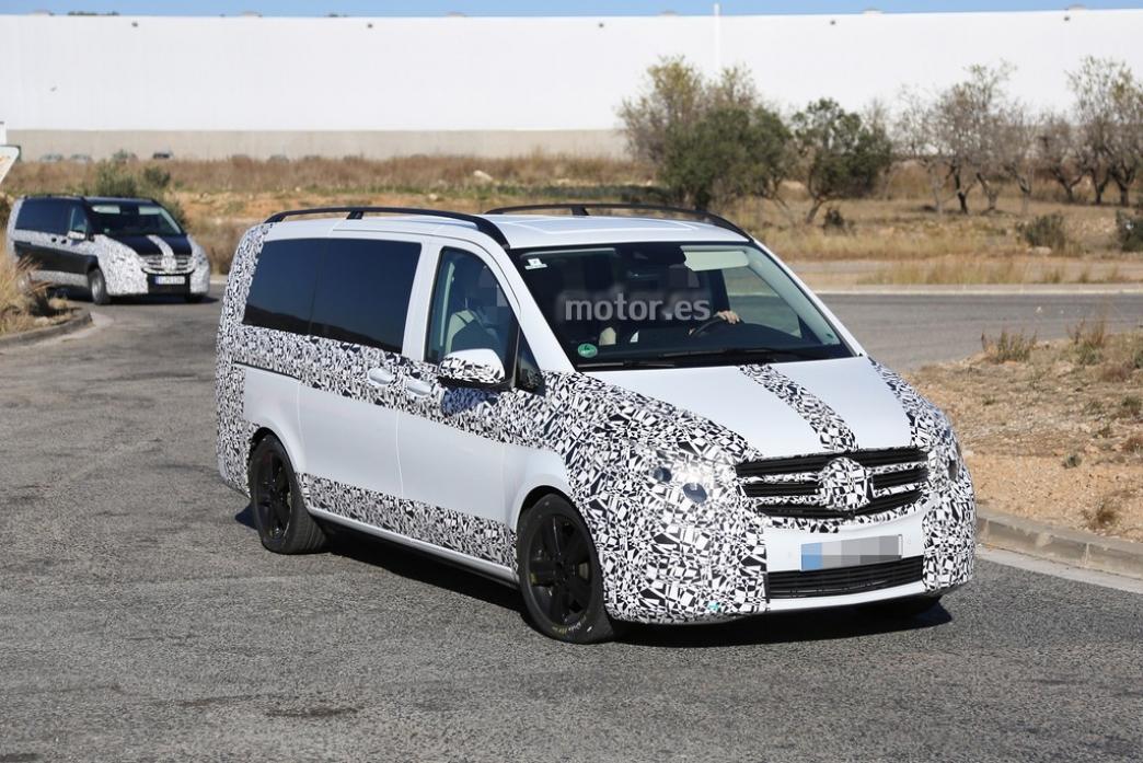 Mercedes-Benz Clase V 2014, fotos espía