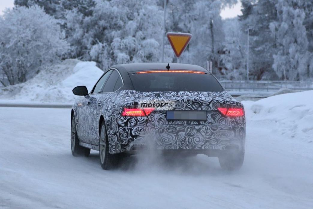 Cazado el Audi A7 2015 de pruebas en la nieve