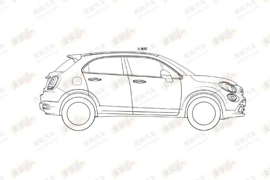 El Fiat 500X se filtra a través de sus patentes de diseño