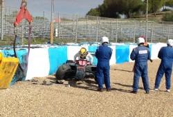 Lewis Hamilton sufre un accidente con el nuevo Mercedes W05