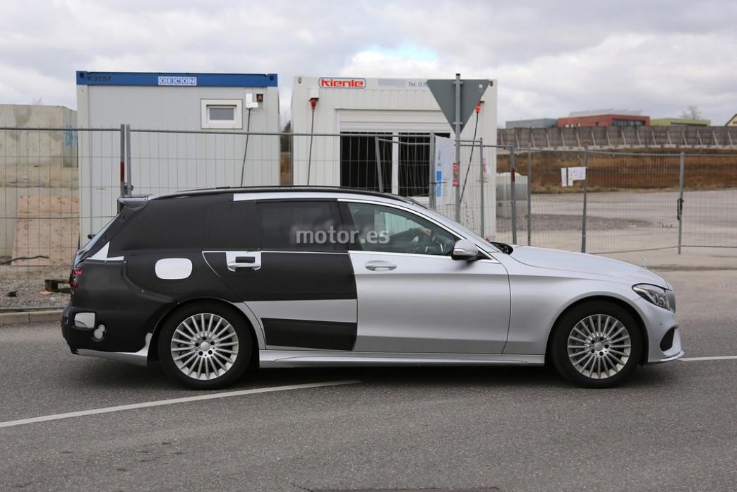 Mercedes Clase C Estate 2015, nuevas imágenes con menos camuflaje