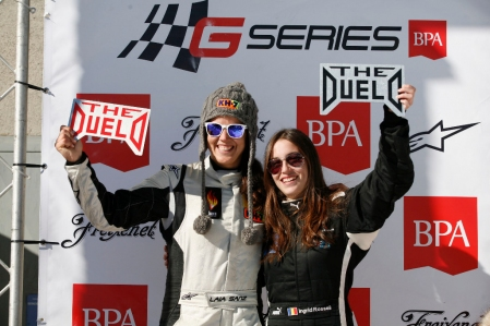 Laia Sanz se atreve con los coches y gana The Duelo - The Ice Girls