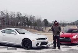 Chevrolet Camaro Z/28 vs Nissan GT-R Track Edition en vídeo