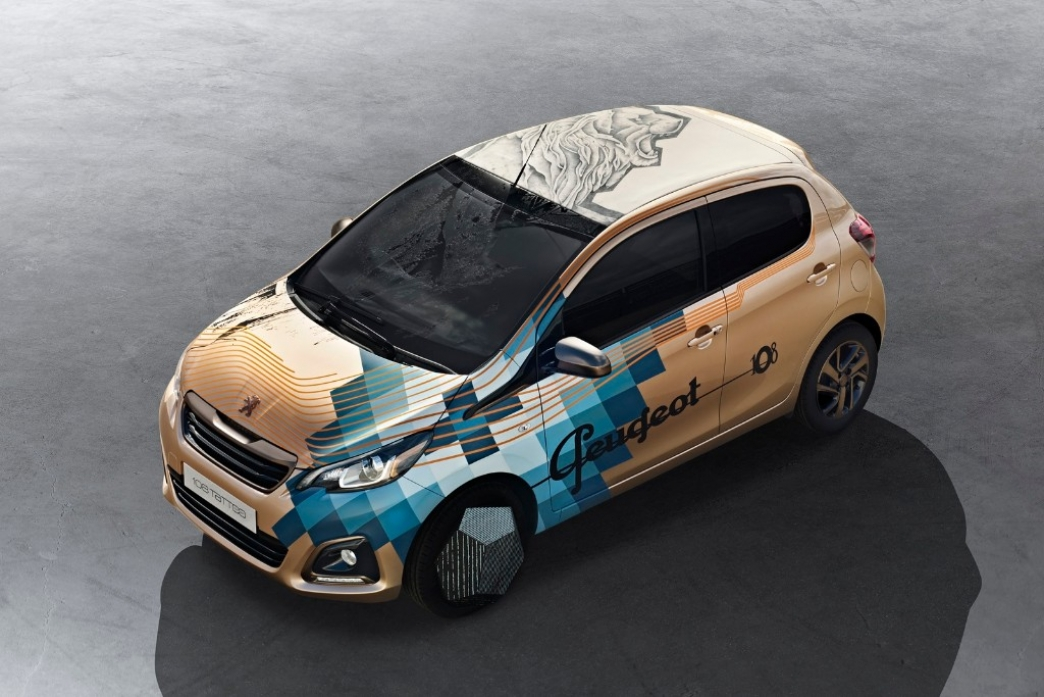 Peugeot 108 Tattoo Concept, un león tatuado en la carrocería