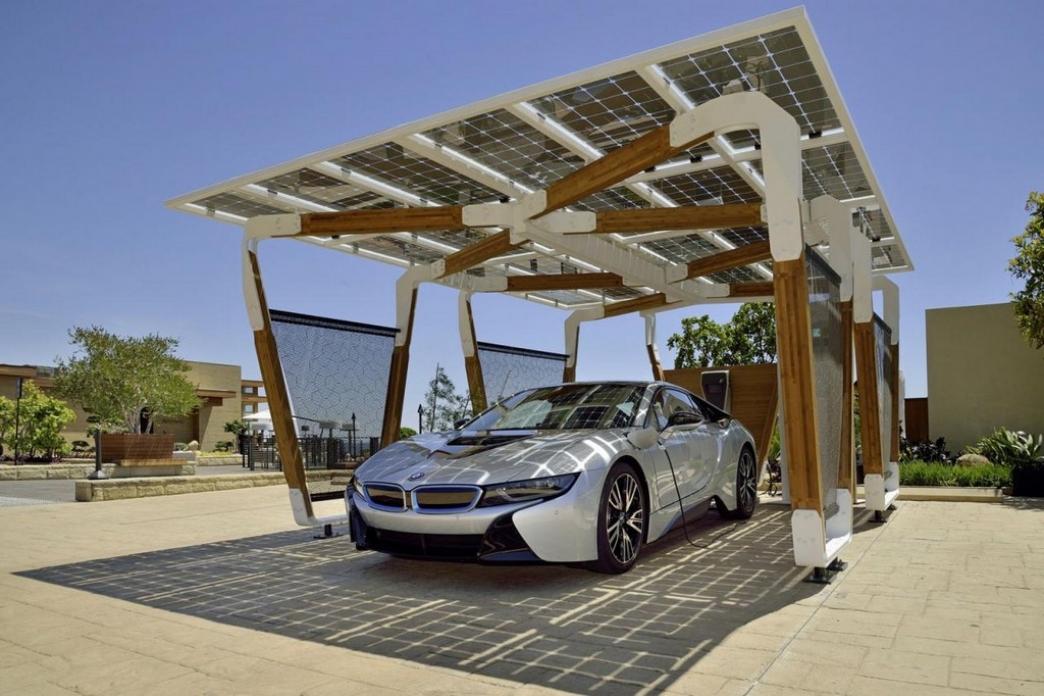 Tejavana solar para recargar los BMW i3 e i8