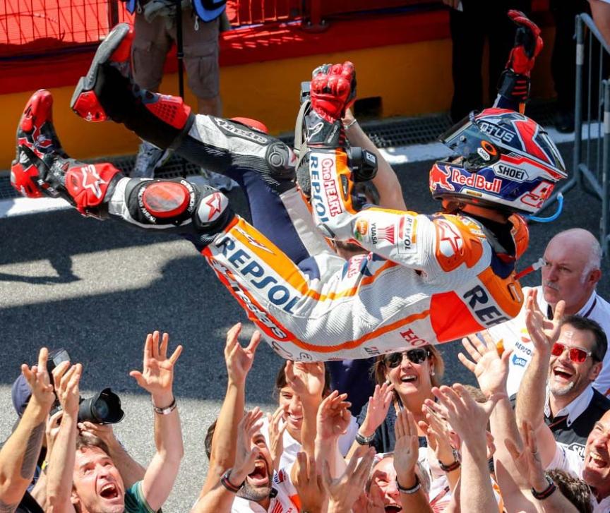 Marc Márquez: 23 vueltas para ganar la sexta carrera consecutiva del año