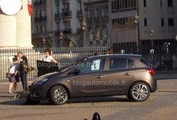 El Opel Corsa 2015 al descubierto durante una sesión de fotos en París