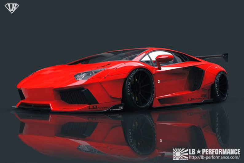 Paquete deportivo Liberty Walk para el Lamborghini Aventador