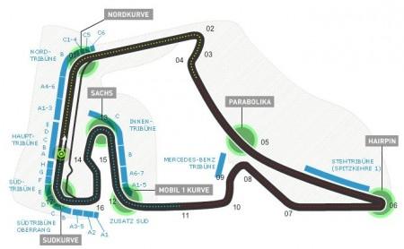 Agenda, horarios del GP de Alemania F1 2014 y datos del circuito de Hockenheim