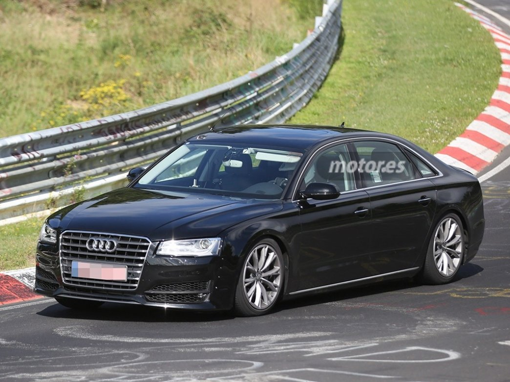 El Audi A8 2016, descubierto otra vez en una sesión de pruebas