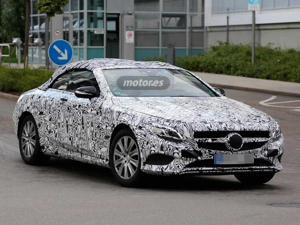 El Mercedes Clase S Cabrio 2015 descubierto en fase de pruebas