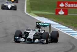 Rosberg domina los primeros libres en Spa
